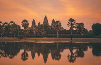 Angkor Vat during dawn in Siem Riep