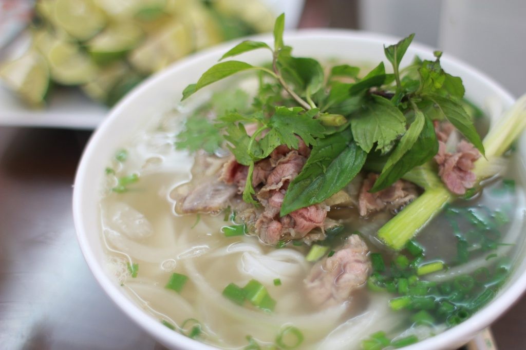 Pho Noodle Soup in Hanoi