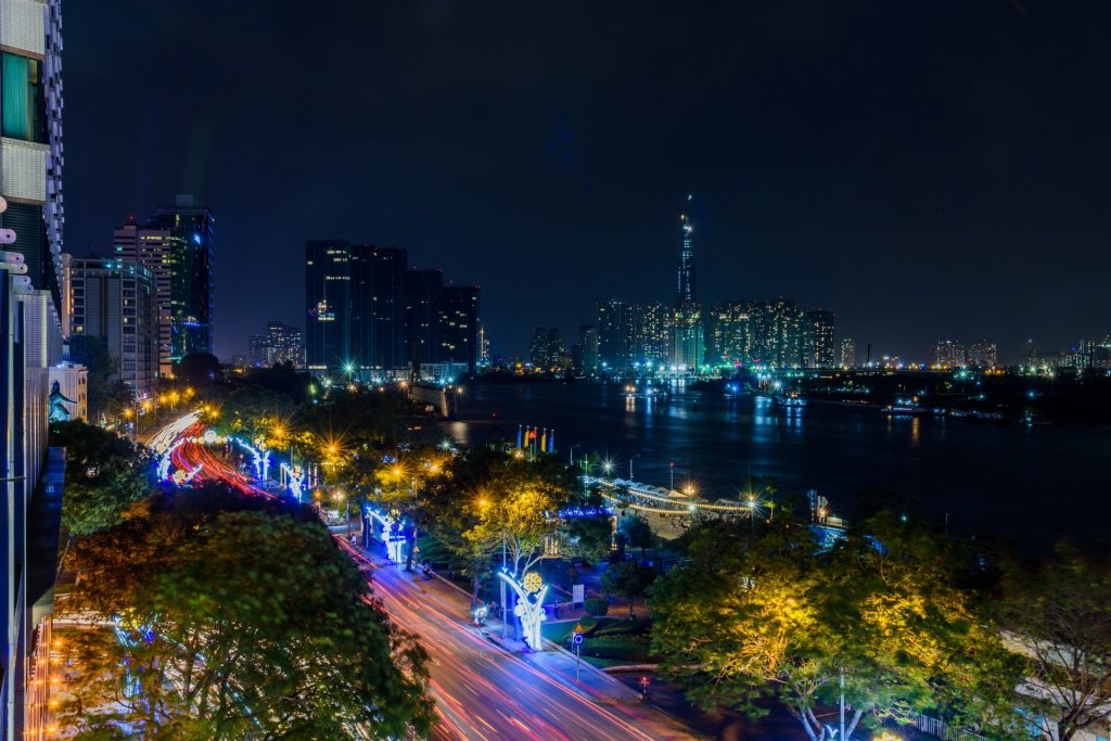 Time Lapse Photo of Saigon Road