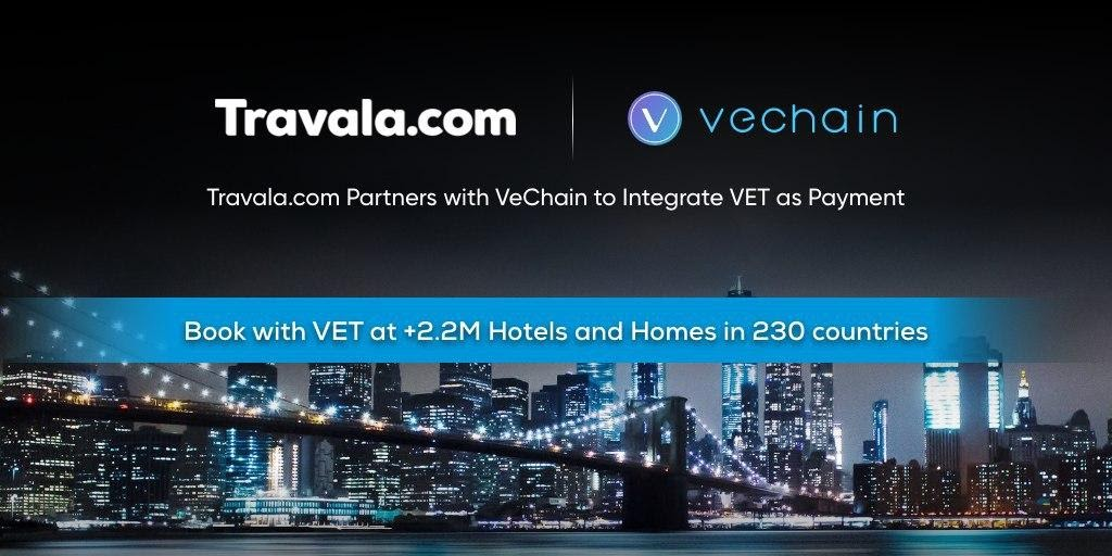 Vet and Travala.com partnership
